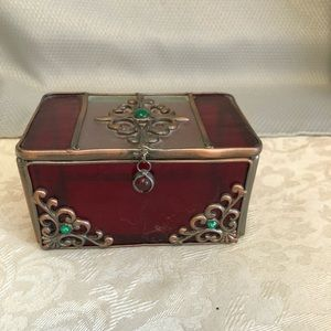 Stained Glass Jewelry Treasure Box